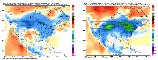 CFSv2 Temperature Outlook