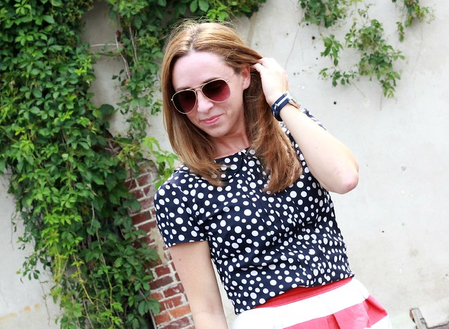 red white and blue outfit via Kristina J blog