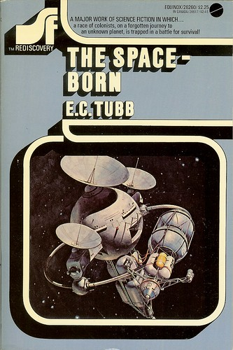 Space-Born - E.C. Tubb - cover artist Vicente Segrelles