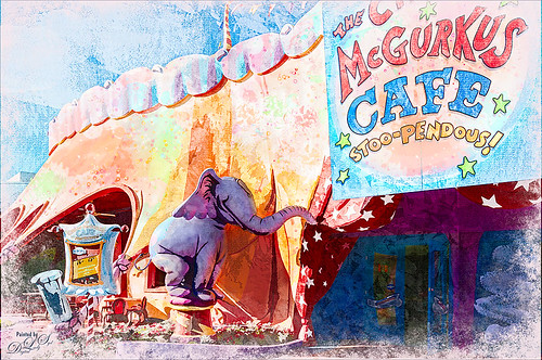 Illustrative image of the Circus McGurkus at Seuss Land, Universal Studios, Florida