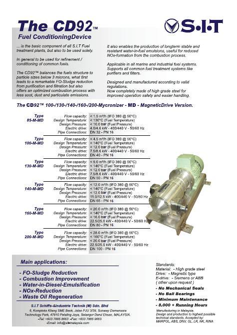 CD92 Homogenizer Systems   CD92™ Homogenizer  Patented Germa