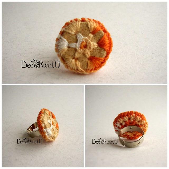 Collage anello regolabile arancione