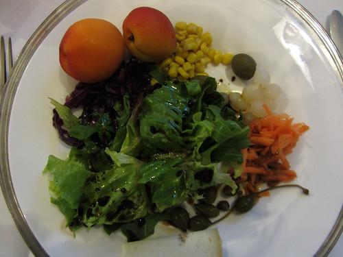 salad at dinner