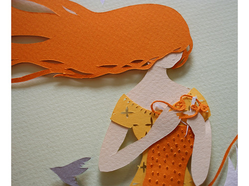 cut-paper-knitted-fox-detail