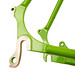 Waterford 22-Series Disc Touring in Big Bad Green with Black Masked Lugs - Rear Dropout Closeup. by waterfordbikes