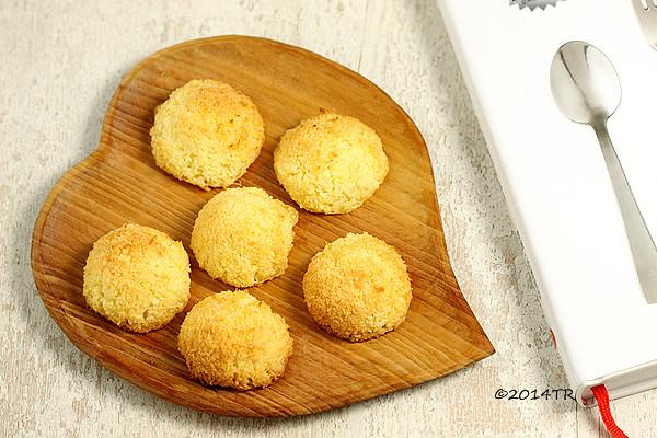 椰香英式馬卡龍 Coconut macaroons(椰子球)-20140727