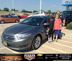Congratulations to Lance and Linda Edgemon on your #Ford #Taurus purchase from Dewayne  Aylor  at Four Stars Auto Ranch! #NewCar