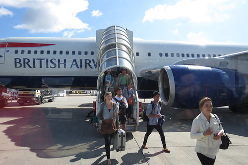 Getting out of the plane @London