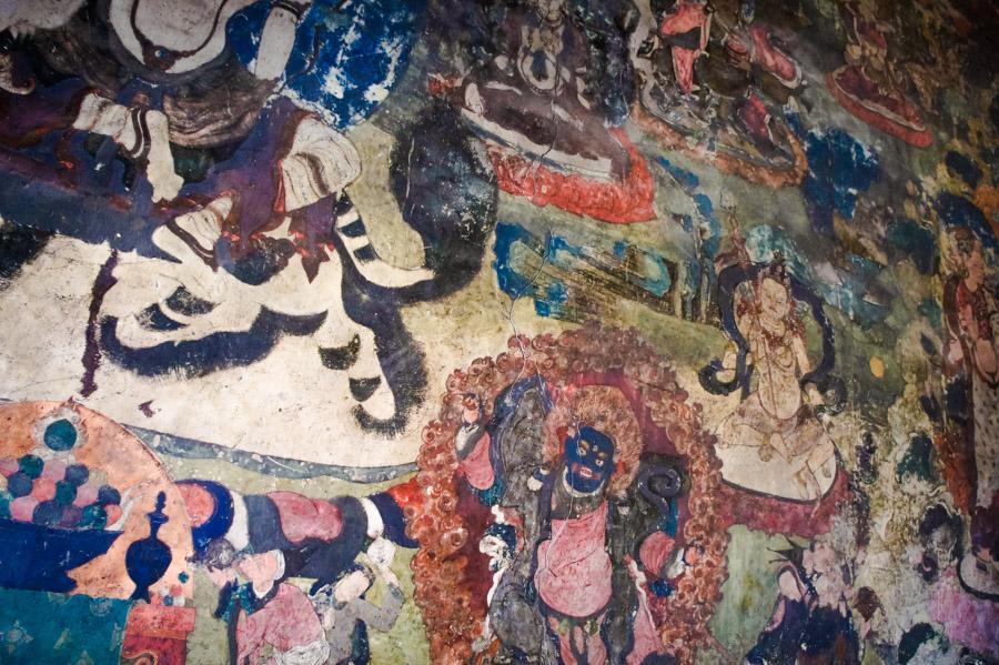 Роспись стен Шей гомпы. Монастыри Ладакха (Монастыри малого Тибета) © Kartzon Dream - авторские путешествия, авторские туры в Ладакх, тревел фото, тревел видео, фототуры