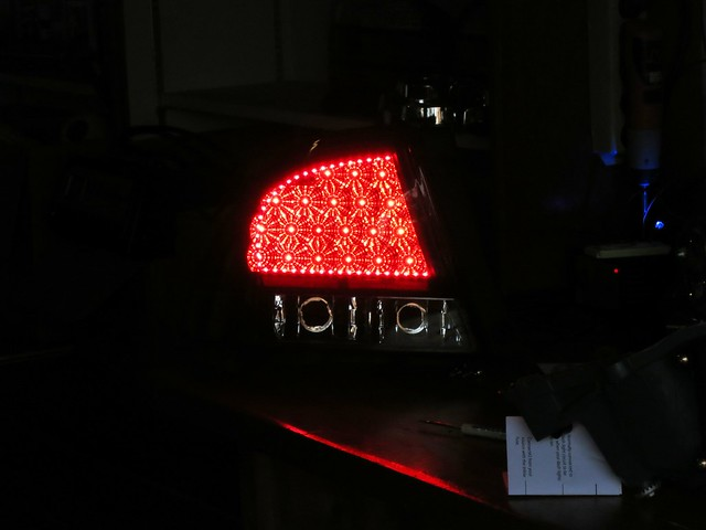 Custom is300 led tail lights lexus is forum the strip leds are actually redder than the old brake lights also the strip helps fill in that one dead area on the top left where there is no brake led aloadofball Gallery