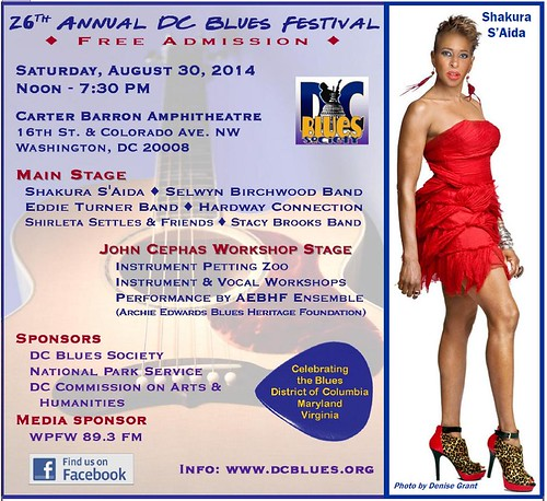 26th Annual FREE DC Blues Festival - Labor Day Saturday