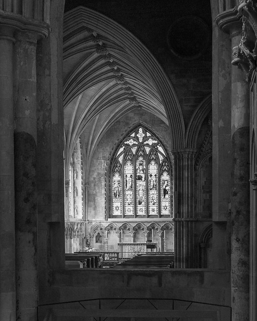 Looking towards the Lady Chapel, St Albans Cathedral
