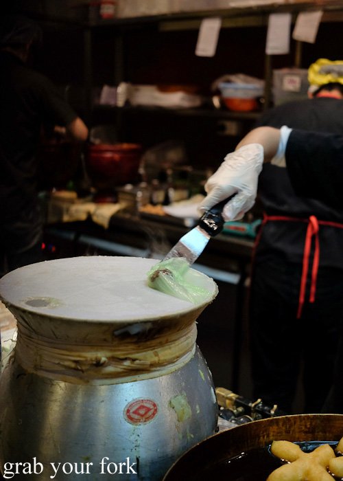 Fresh steamed rice noodle dumplings at Do Dee Paidang, Haymarket Chinatown Sydney