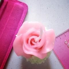 Rose cupcake candle   #cupcakecandle
