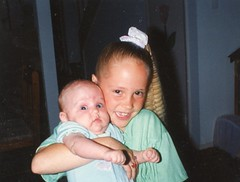 Brittny-7 yrs;Carissa-3 months-afraid of being squeezed to hard
