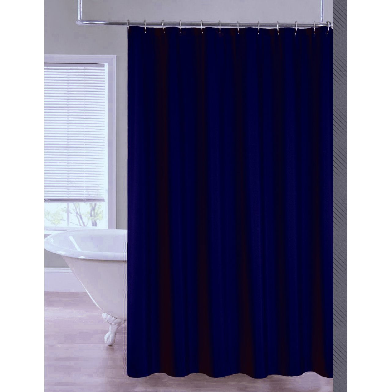 2 In 1 Water Repellant 70 X 72 Polyester Fabric Shower Curtain Liner 11 Color