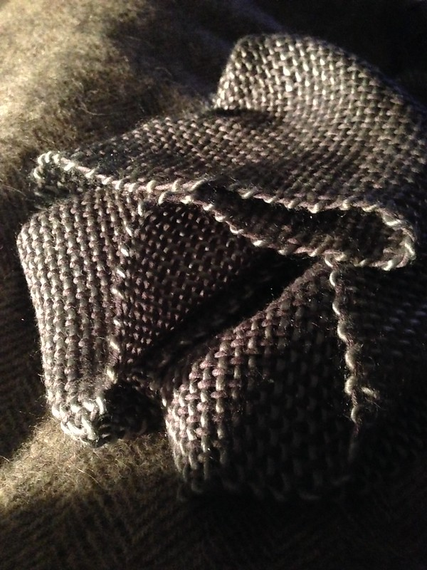 Grey and silver #scarf from the loom in silk and merino. Love the sheen.
