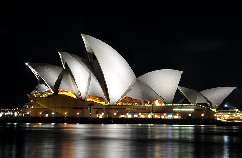The marvelous Sydney Opera House at night