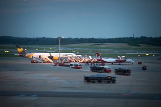Flugzeug auf dem Hamburg Airport