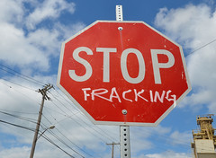 Stop fracking sign by Mary Crandall on Flickr The Commons