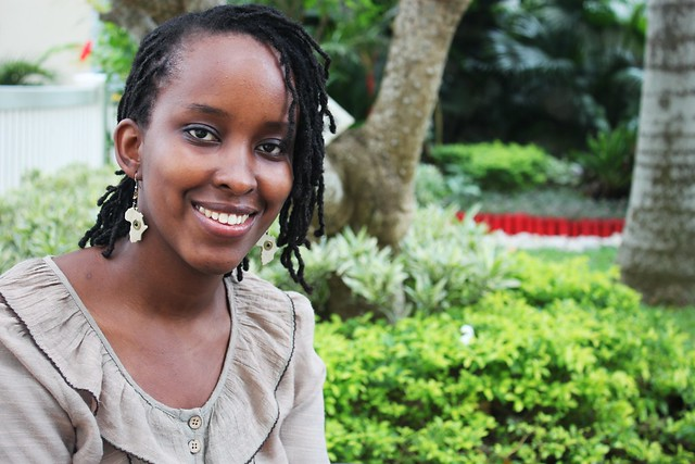 Akaliza Keza Gara is the founder and managing director of Shaking Sun, a multimedia business specialising in website development, graphic design and computer animation in Rwanda. She is one of the few women in the ICT sector. Credit: Orphelie Thalmas/IPS