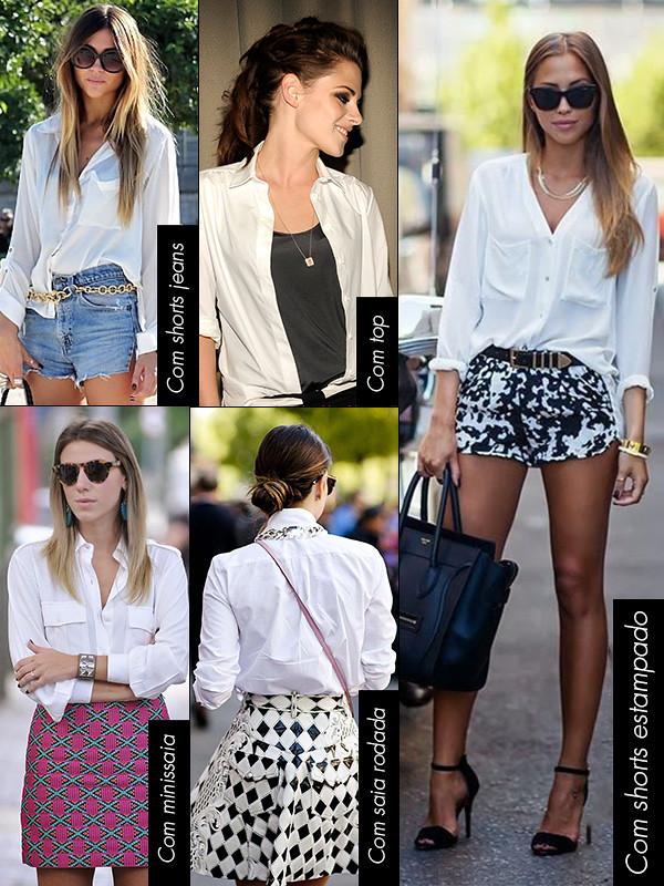 15 maneiras de usar camisa branca - Blog da Laura Peruchi