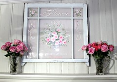 handpainted vintage window