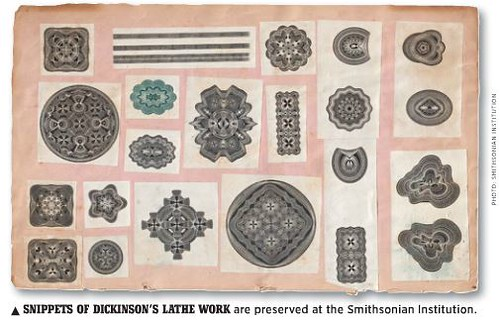 DIckinson's lathe work snippets
