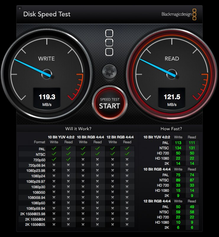 Seagate Backup Plus Slim - Disk Speed Test