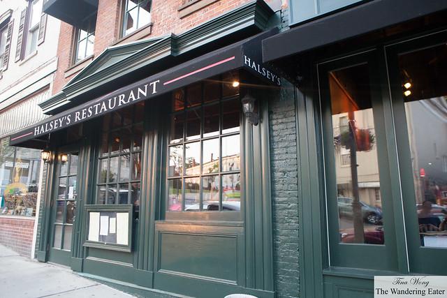 Exterior of Halsey's Restaurant