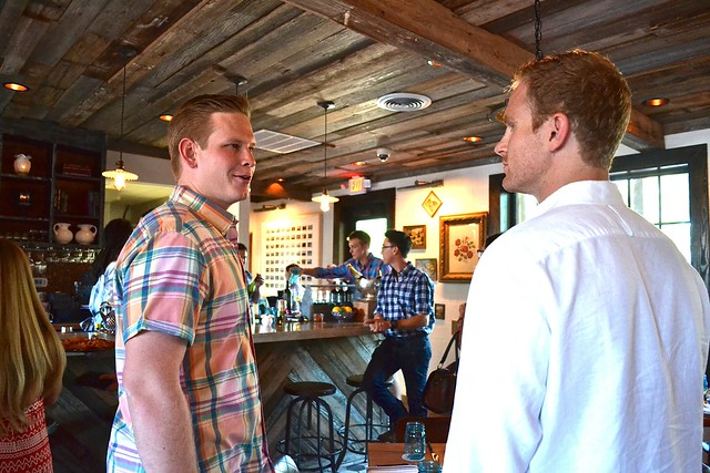 Adam Jacoby visiting with Andrew after we walked in