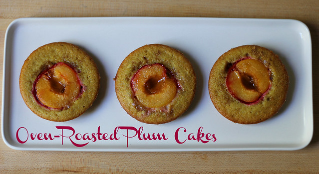 oven-roasted plum cakes