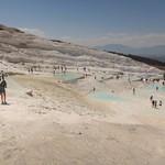 Immagine di Pamukkale Travertines vicino a Pamukkale. pool turkey europe mediterranean limestone travertine pamukkale
