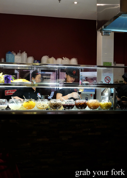 Thai dessert counter at Do Dee Paidang, Haymarket Chinatown Sydney