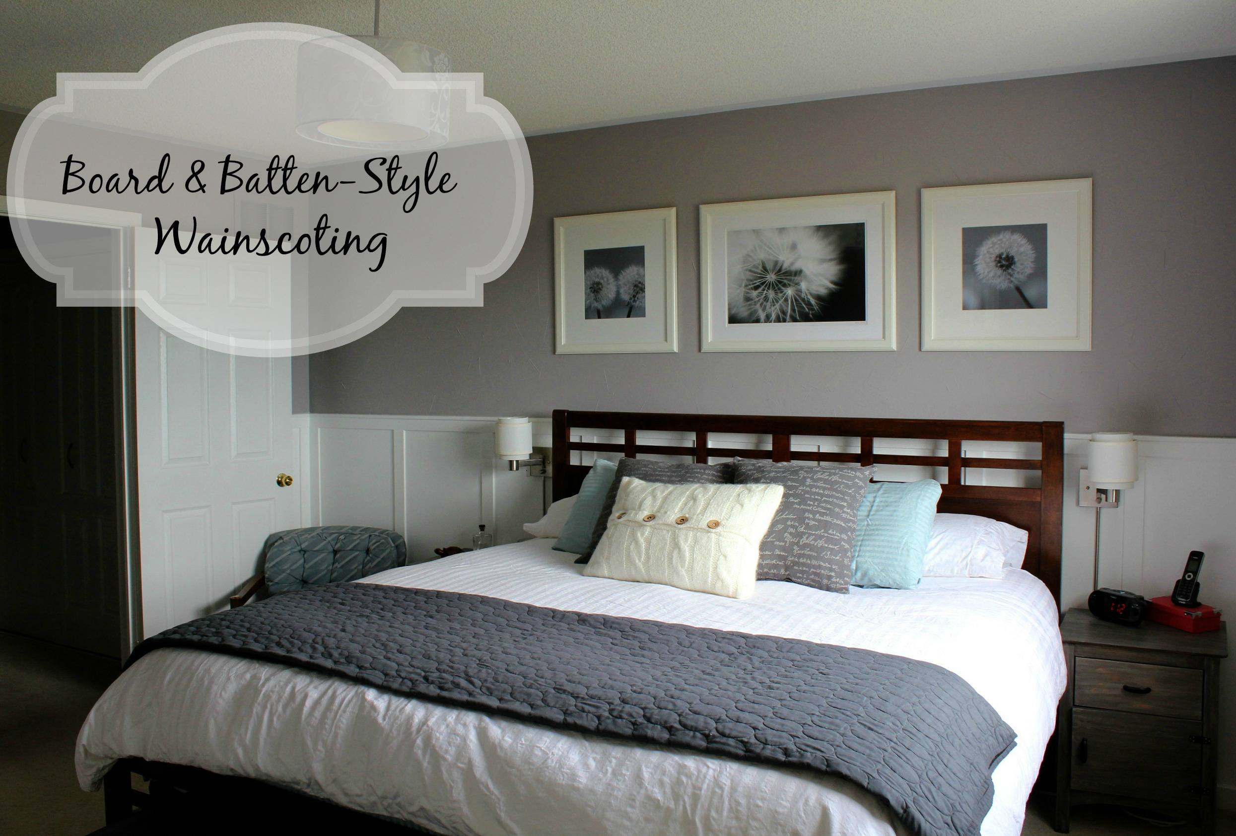 tails upgrade your bedroom with board and batten style wainscoting