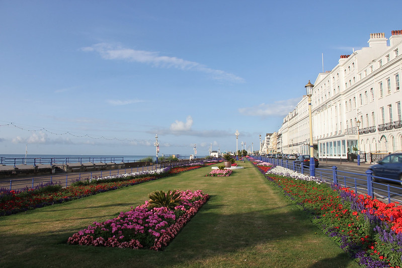 the Eastbourne seafront
