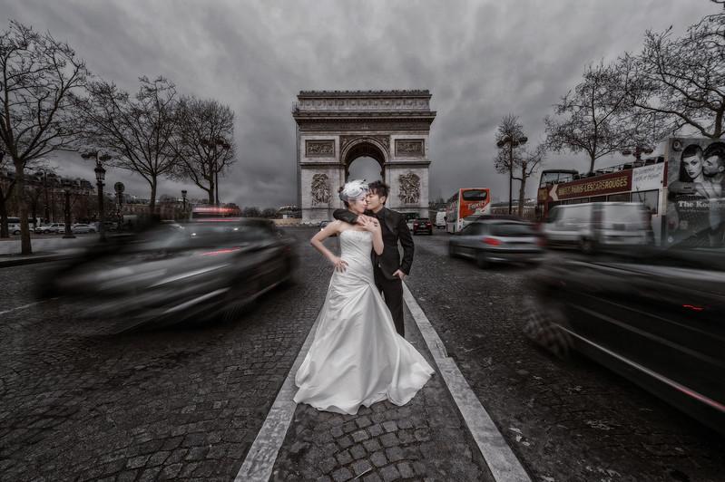 海外婚紗, 自助婚紗, 自主婚紗, 婚攝, 凱旋門婚紗, 婚攝東法, Donfer, 海外婚禮