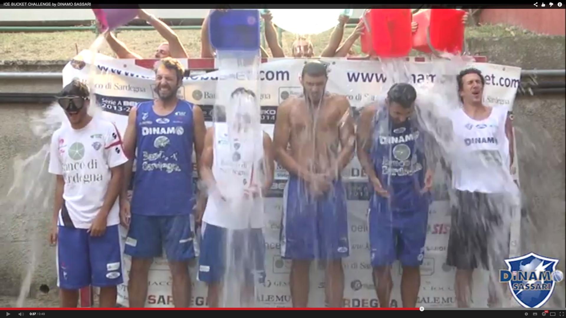 [Video] Dinamo Sassari ecco l'ICE BUCKET CHALLENGE