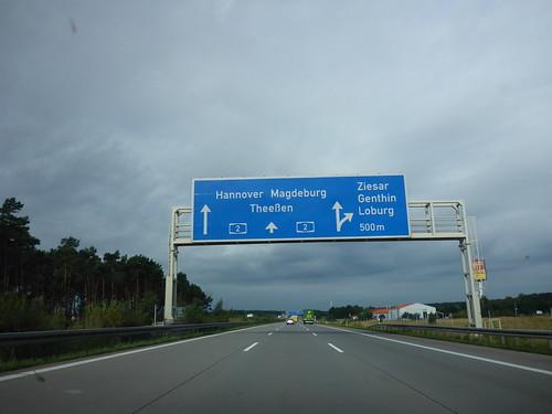 auf der Autobahn...