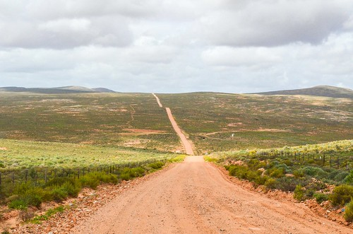Dirt roads on the West coast, South Africa