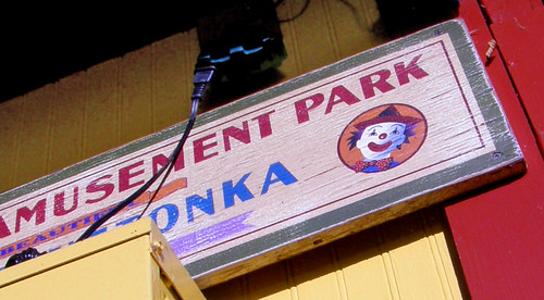 Amusement clown (old Excelsior Amusement Park Sign)