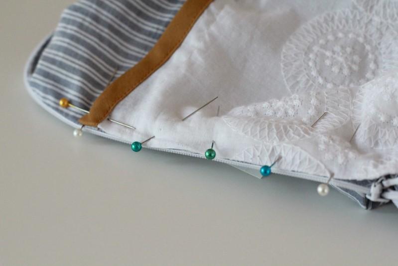 how to turn a blouse into a sheath dress via Kristina J blog