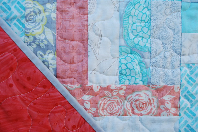 Modern Roses Baby Quilt