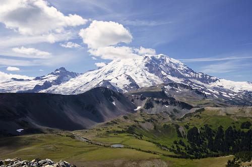 clouds landscapes hiking trails nationalparks mtrainier