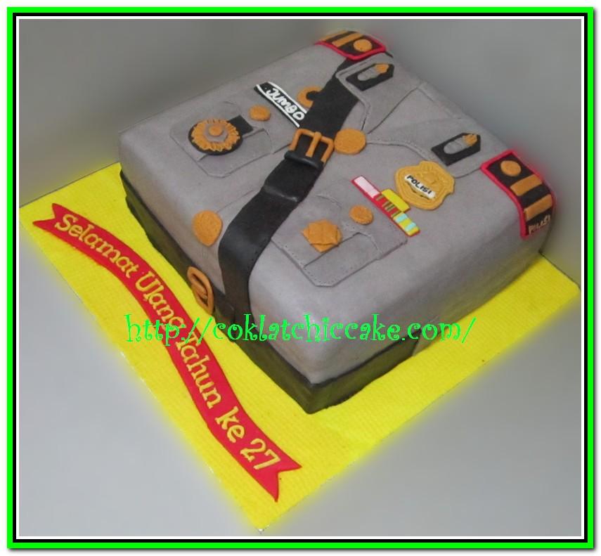 Kue ulang tahun seragam polisi indonesia