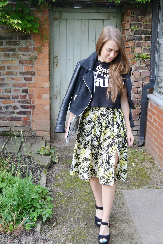 Primark pineapple skirt 3