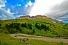 Pordoi pass & mount Sass Pordoi - Dolomites - Italy