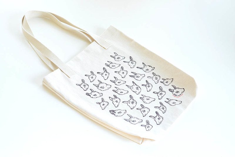 animal heads tote