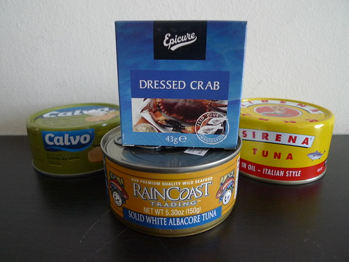Canned Tuna and Crab