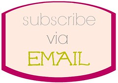 subscribe via email Kristina J blog